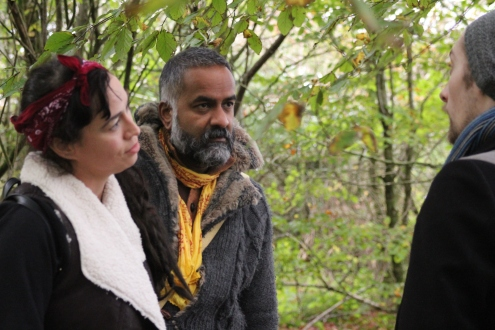Panda Marcella Edgecombe Craig with Cameron Moon and Lawernce Crane on the set of Seawolf.