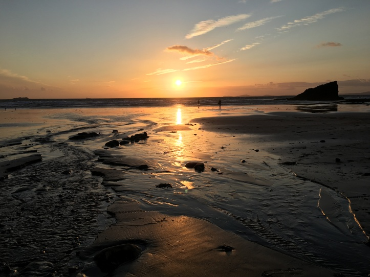 Broad Haven at Sunset. Pembrokeshire.