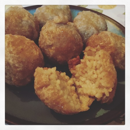 Indian spiced rice balls