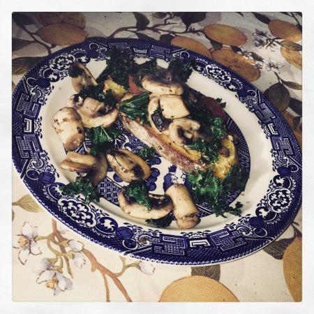 tasty vegan mushrooms kale tomato on toast